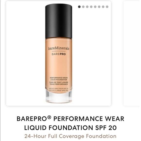 NIB - BAREPRO® PERFORMANCE WEAR LIQUID FOUNDATION